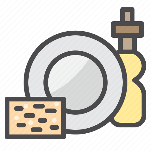 cleaned, cleaning, dishes, equipment, wash icon