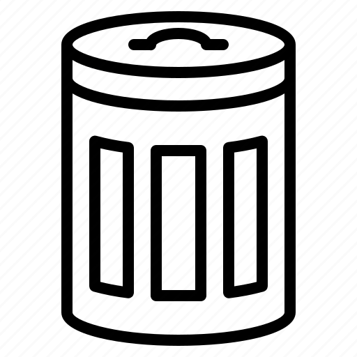 Bin, equipment, cleaning, cleaned icon