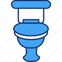 bathroom, bowl, seat, toilet icon