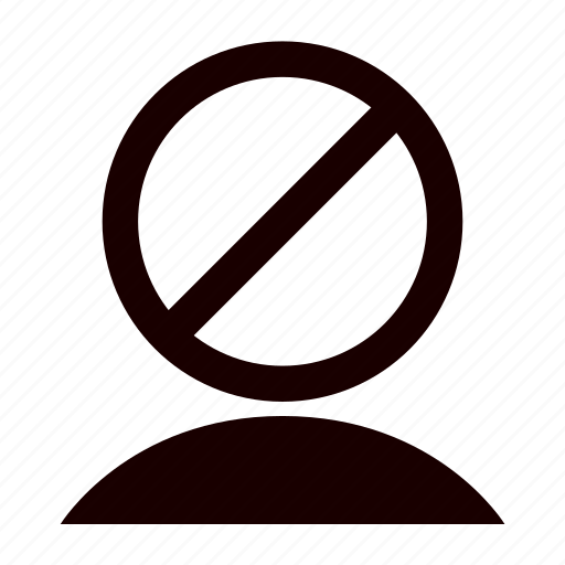 account, avatar, blacklist, list, person, profile, user icon