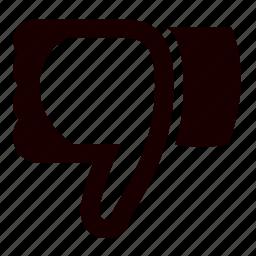 bad, cancel, close, dislike, minus, no, trash icon