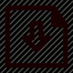 data, document, download, file, files, send, storage icon