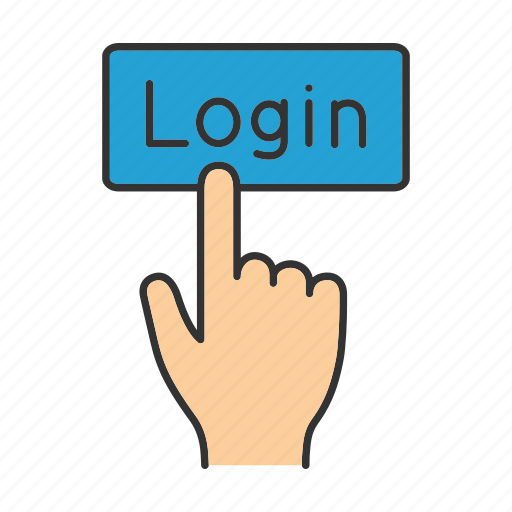 account, click, finger, log in, login, sign in, sign up icon