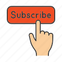 click, finger, follow, follower, subscribe, subscriber, sunscription icon