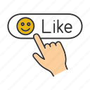 comment, emoji, emoticon, internet, like, smiley, social network icon