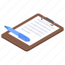 agreement, attested document, business file, contract, document icon