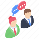 business meeting, communication, conversation, debate, dialogue icon