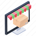 ecommerce, online purchase, online shopping, online trade, shopping website icon