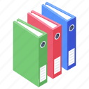archives, data management, data storage, files, official data icon