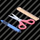 blogging, creativity, custom designing, designing tools, engineering concept icon