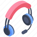 hardware, headphones, headset, input device, online calling, output device icon