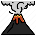 change, climate, disaster, eruption, explosion, nature, volcano icon