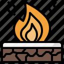 bonfire, campfire, camping, survival, travel