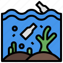 environment, ecology, greenhouse, reef, effect, and, coral icon