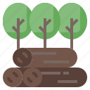 cut, deforestation, ecology, environment, nature, trees icon