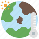 global, heat, hot, temperature, warming, wave icon