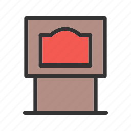boiler, coal, fire, fireplace, flame, furnace, room icon