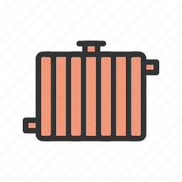 central, electric, energy, heater, home, radiator, wall icon
