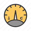 gauge, level, meter, pointer, pressure, stick, temperature icon