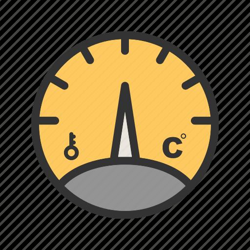 gauge, level, meter, pointer, pressure, stick, temperature icon