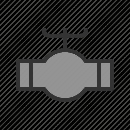 industrial, metal, pipe, pipeline, steel, valve, water icon