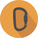 carabin, carabiner, climb, climbing, equipment, karabiner, safety, security, sport icon