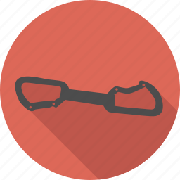 carabin, carabiner, climbing, double, equipment, quickdraw, safety icon