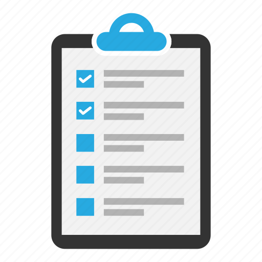 checklist, clipboard, content, document, sheet, task, text icon