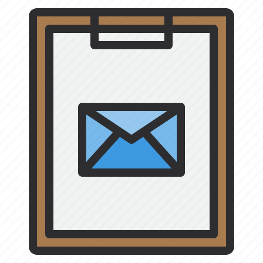 business, clipboard, email, letter, mail, paper icon