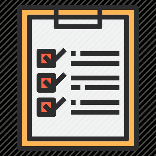 business, check, clipboard, list, paper icon
