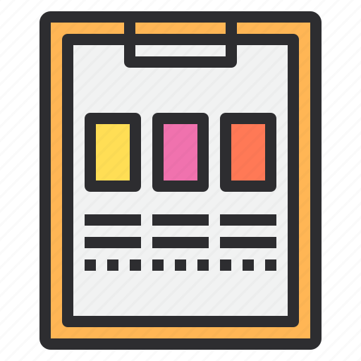 business, clipboard, paper icon