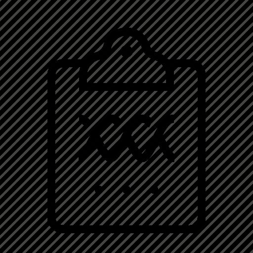 analytics, area, chart, clipboard icon