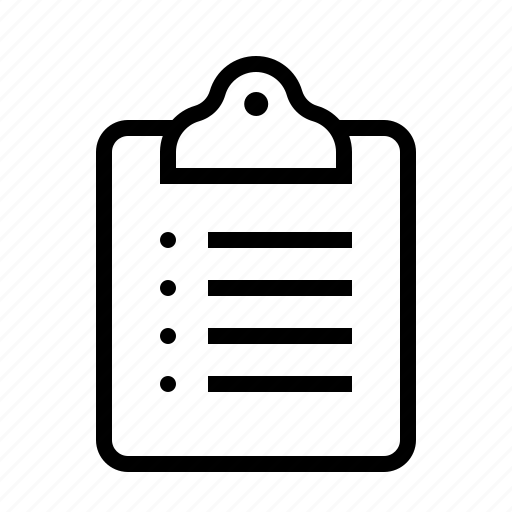 clipboard, list icon