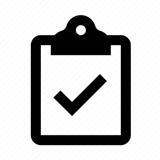 checkmark, clipboard, inspection, pass icon