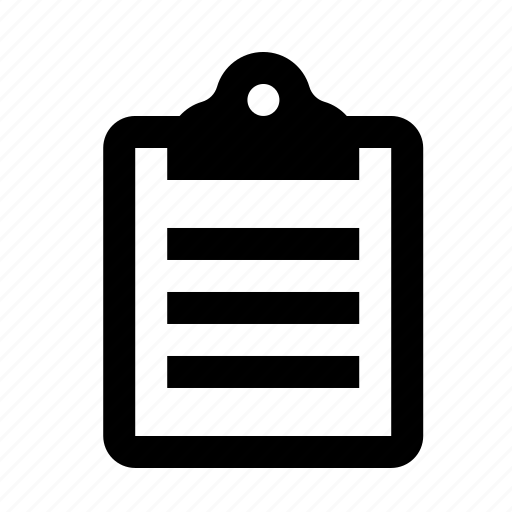 clipboard, list, text, to-do icon