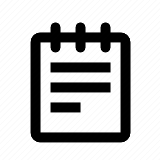 list, notepad, notes icon