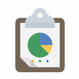 analytics, chart, clipboard, pie icon