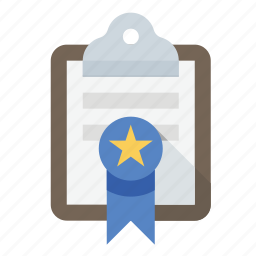 award, clipboard, ribbon icon