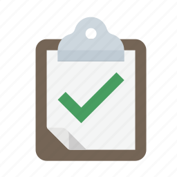 checkmark, clipboard, pass, success, survey icon