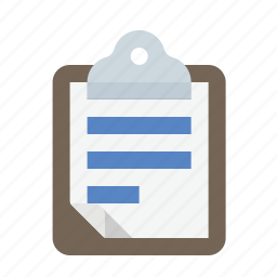 clipboard, document, text icon