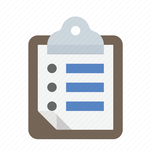 clipboard, list, to-do icon