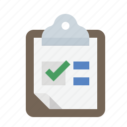 clipboard, form, poll, survey icon