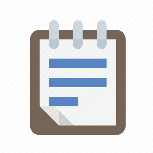 notepad, notes, writing icon
