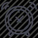 alarm, alert, clock icon
