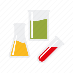 beaker, equipment, flask, healthcare, laboratory, medical, test tube icon