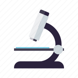 equipment, healthcare, laboratory, magnification, medical, microscope icon