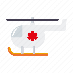 ambulance, chopper, emergency, healthcare, helicopter, medical icon