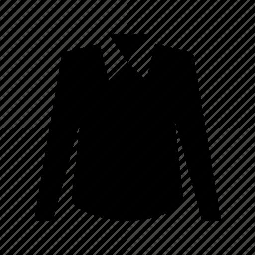collar shirt, formal shirt, full sleeves, shirt, wing collar icon