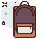 apparel, backpack, shop icon