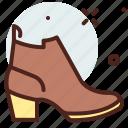 apparel, boots, heels, shop icon